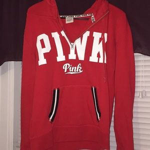 Victoria's Secret PINK quarter zip hoodie ❤️